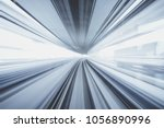 motion blur of train moving... | Shutterstock . vector #1056890996