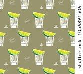 cocktail illustration tequila... | Shutterstock .eps vector #1056891506