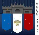 bastille day illustration   Shutterstock .eps vector #1056896399