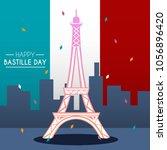 bastille day illustration | Shutterstock .eps vector #1056896420