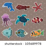 fish stickers | Shutterstock .eps vector #105689978