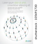 connected people over earth... | Shutterstock .eps vector #105691730