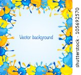 abstract background with blue... | Shutterstock .eps vector #105692570