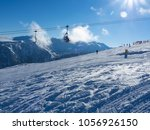 cable car cabin in bansko and... | Shutterstock . vector #1056926150