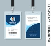 simple and clean employee id... | Shutterstock .eps vector #1056934754