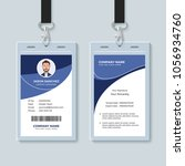 simple corporate id card design ... | Shutterstock .eps vector #1056934760