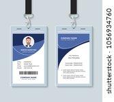 simple corporate id card design ...   Shutterstock .eps vector #1056934760