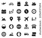 flat vector icon set   camping...