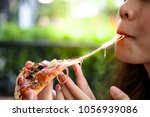 pizza look so yummy or... | Shutterstock . vector #1056939086