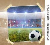 snapshot soccer ball on penalty ... | Shutterstock . vector #105694478