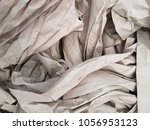 crumpled paper with pleats | Shutterstock . vector #1056953123