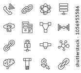 flat vector icon set   incoming ... | Shutterstock .eps vector #1056955586