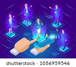 isometric approval of the... | Shutterstock .eps vector #1056959546