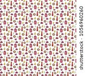watercolor kitchen pattern | Shutterstock . vector #1056960260