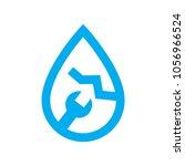 plumbing water leak repair icon.... | Shutterstock .eps vector #1056966524