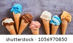 summer banner with a line of... | Shutterstock . vector #1056970850