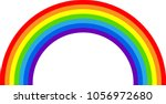 rainbow bridge illustration   Shutterstock .eps vector #1056972680