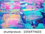 textured abstract acrylic... | Shutterstock . vector #1056974603