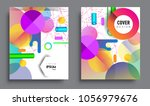 sets of abstract geometric... | Shutterstock .eps vector #1056979676
