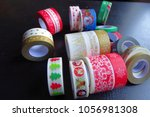 colorful tape group  decorative ... | Shutterstock . vector #1056981308