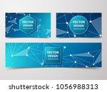 low poly flyer  banner ...   Shutterstock .eps vector #1056988313
