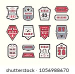 set of emblems and patches in... | Shutterstock .eps vector #1056988670