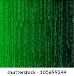 binary code flowing over a... | Shutterstock .eps vector #105699344