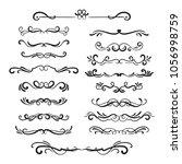 flourishes vintage. ornamental... | Shutterstock . vector #1056998759