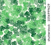 trendy simple floral pattern.... | Shutterstock .eps vector #1056999629