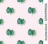 trendy cute floral pattern. ... | Shutterstock .eps vector #1056999656