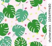 trendy simple floral pattern.... | Shutterstock .eps vector #1056999680