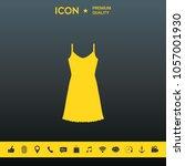 sundress  evening dress ...   Shutterstock .eps vector #1057001930