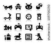 toy icons | Shutterstock .eps vector #105700250