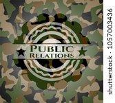 public relations written on a... | Shutterstock .eps vector #1057003436
