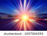 abstract motion light speed... | Shutterstock . vector #1057004393