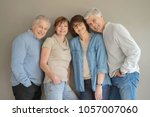 group of senior people ... | Shutterstock . vector #1057007060