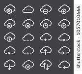 cloud computing linear icons set | Shutterstock .eps vector #1057010666
