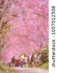 blurred of crowd walking  ... | Shutterstock . vector #1057012508