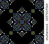decorative hand drawn seamless... | Shutterstock .eps vector #1057019564