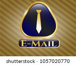 gold emblem with necktie icon... | Shutterstock .eps vector #1057020770