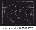 soccer game tactical scheme.... | Shutterstock .eps vector #1057025570