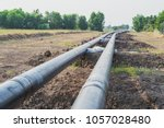 construction of a new energy... | Shutterstock . vector #1057028480