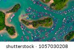 cat ba island from above. lan... | Shutterstock . vector #1057030208
