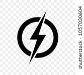 power lightning logo icon.... | Shutterstock .eps vector #1057030604