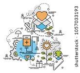 flat colorful design concept...   Shutterstock .eps vector #1057033193