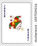 Joker Playing Card Isolated On...