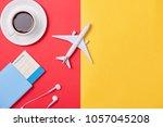 online travel booking concept.... | Shutterstock . vector #1057045208