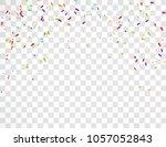 falling festive colorful bright ... | Shutterstock .eps vector #1057052843