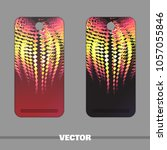 bright covers for mobile phone...   Shutterstock .eps vector #1057055846