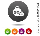 weight icon. 90 kilogram sport... | Shutterstock .eps vector #1057059644